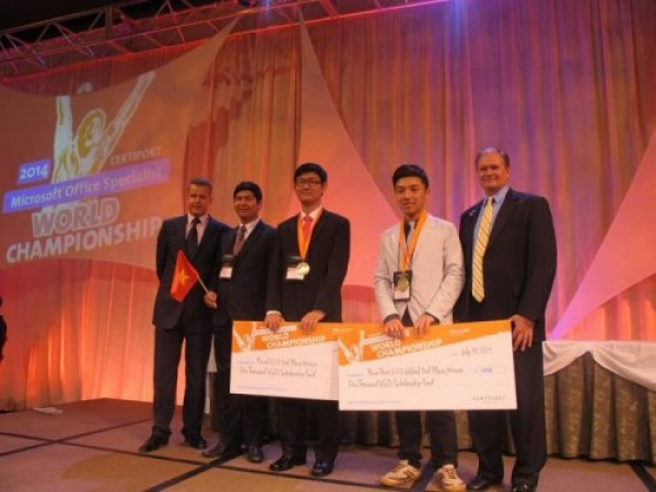 Tran Phuc Duy bagged the Bronze Medal in Microsoft Office Specialist World Championship 2014 (MOSWC)