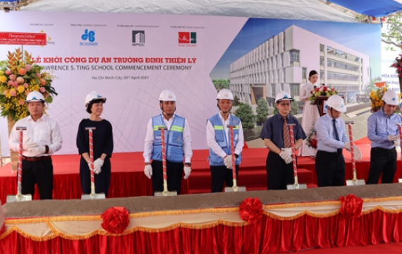 Groundbreaking ceremony of Lawrence S. Ting School - Campus 1